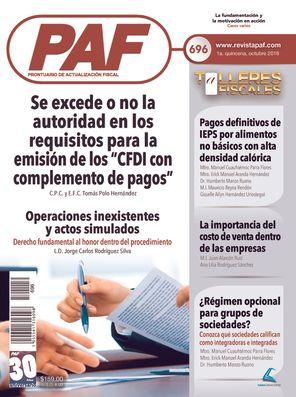 Prontuario de Actualización Fiscal (PAF)