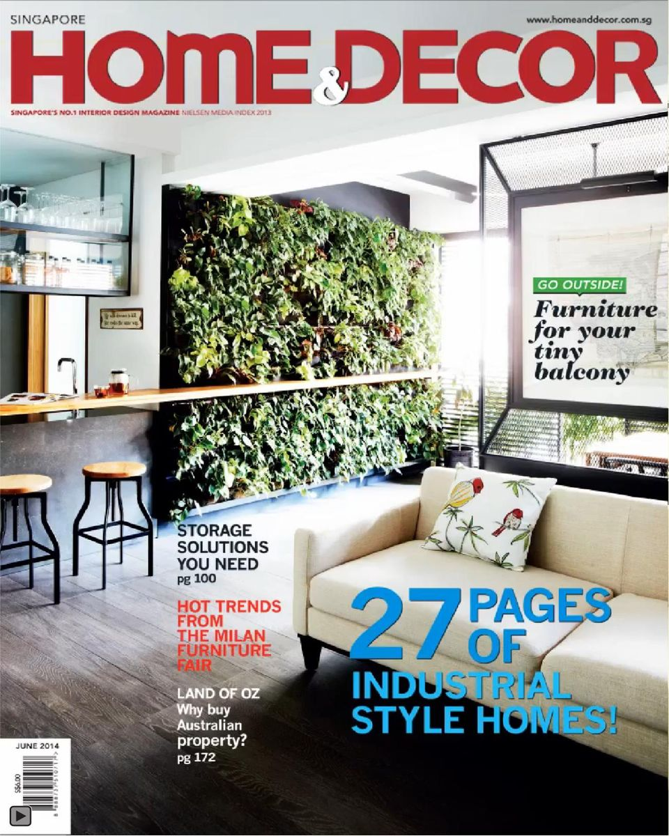 Home Decor Singapore: Home & Decor Singapore-June 2014 Magazine