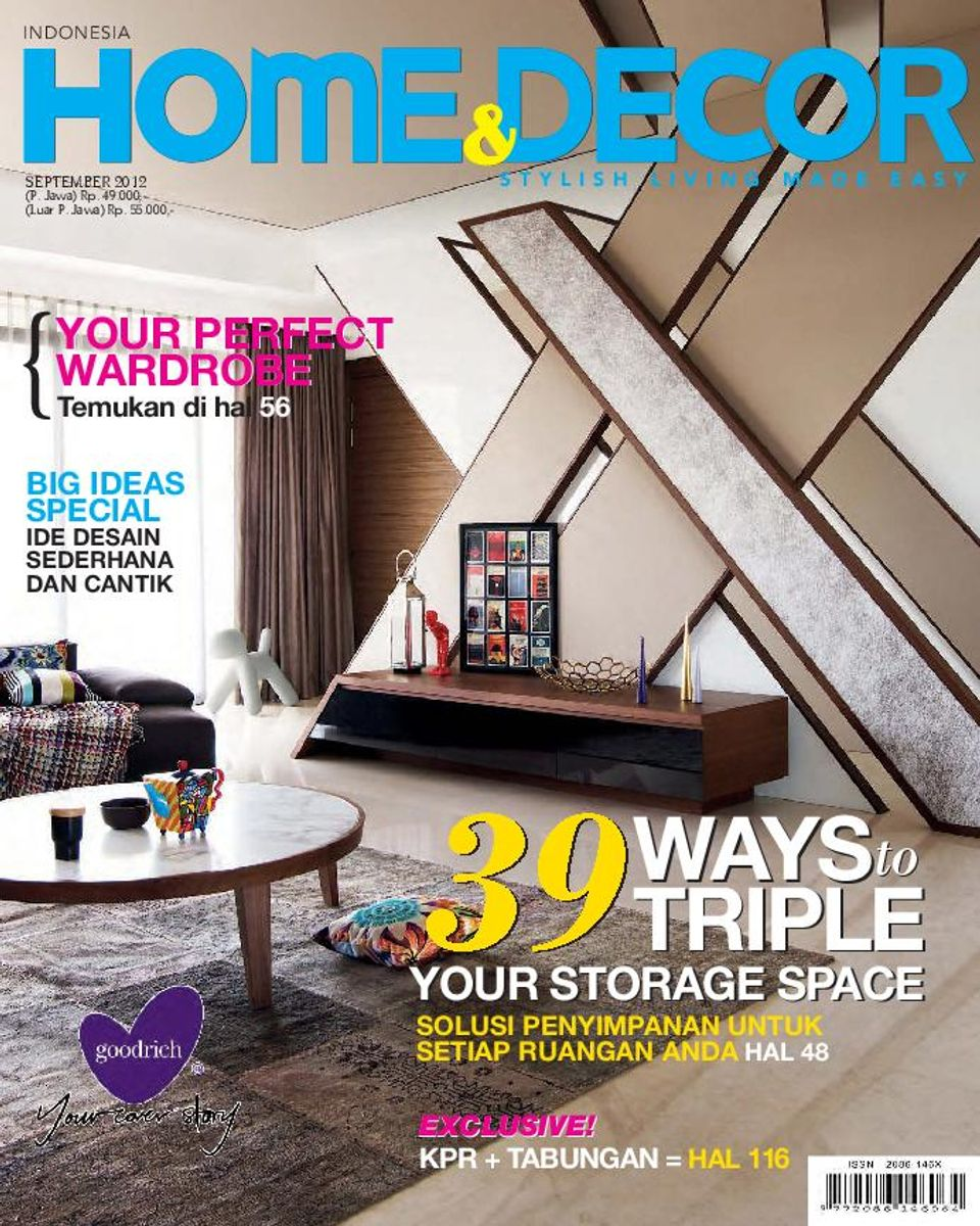 Home Decorating Magazine Subscriptions: Home & Decor Indonesia-September 2012 Magazine
