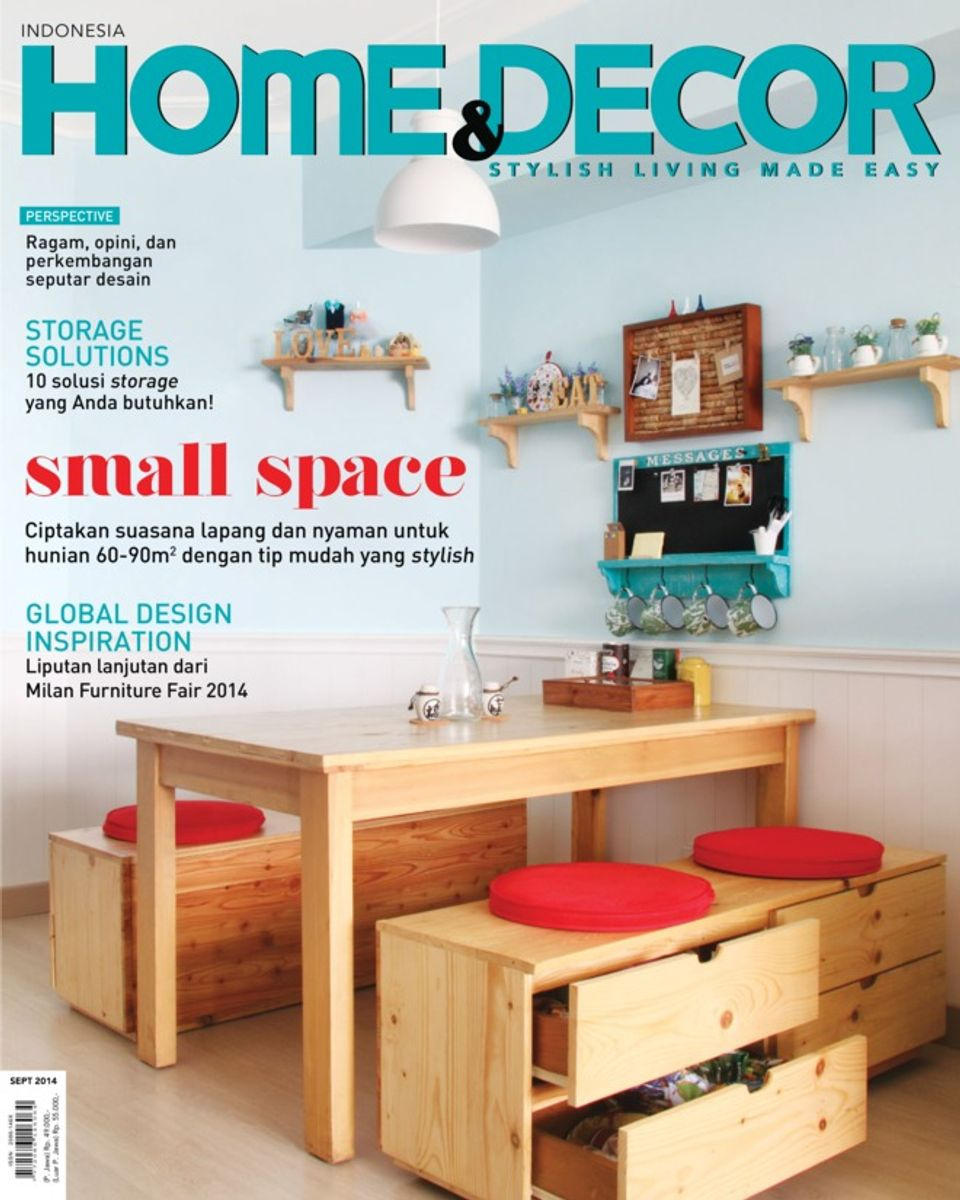 Home Decorating Magazine Subscriptions: Home & Decor Indonesia-September 2014 Magazine