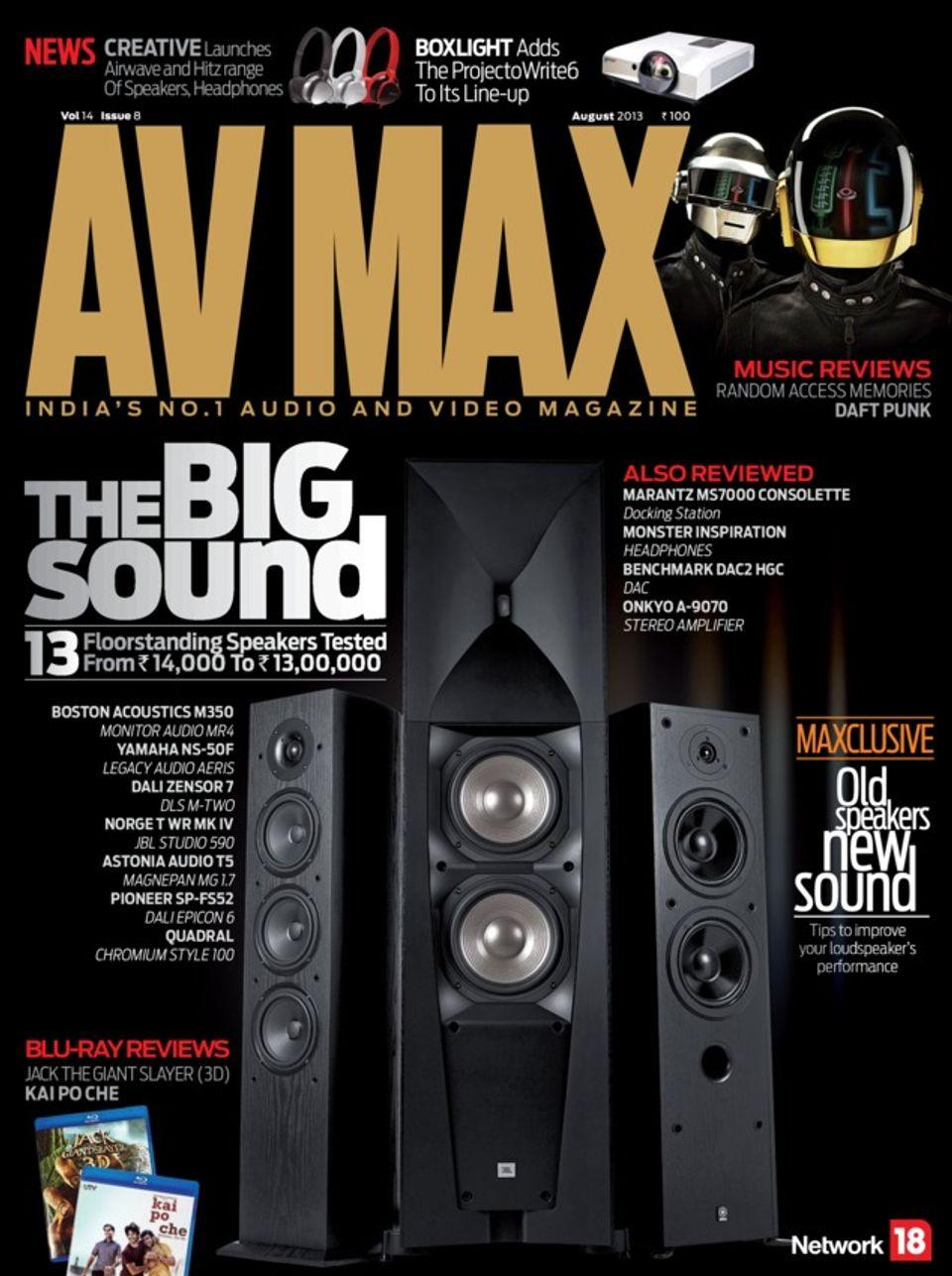 AV MAX-August 2013 Magazine - Get your Digital Subscription