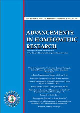 Advancements in Homeopathic Research Magazine November 2017
