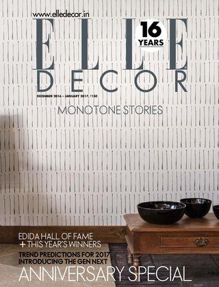 Elle Decor India Magazine December 2016 January 2017 Issue