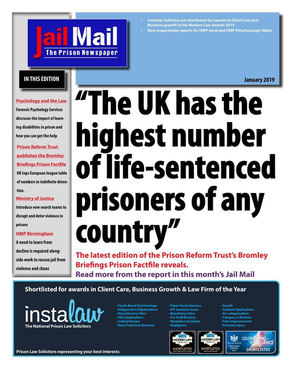 Get your digital copy of Jail Mail UK – Prison Newspaper