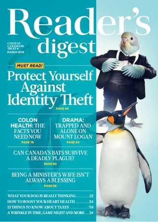Reader's Digest Canada Magazine March 2018 issue – Get your