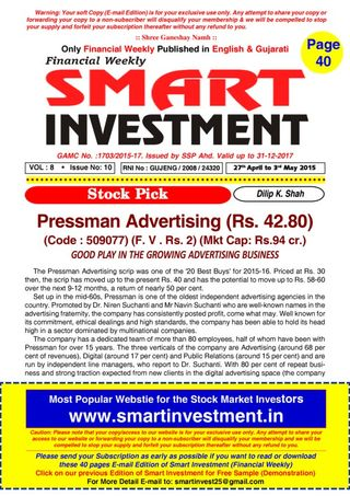 financial weekly smart investments