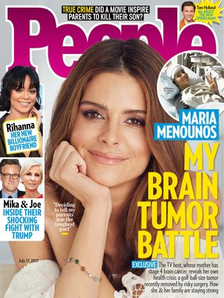 magazine brain maria menounos tumor reveals diagnosed cancer she battle july today stage issue says removed everyone engagement ring shows