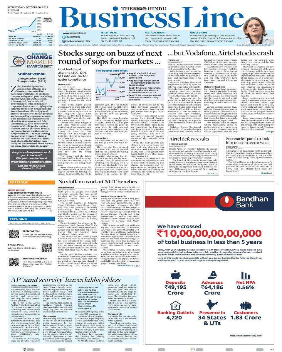 The Hindu Business Line-October 30, 2019 Newspaper