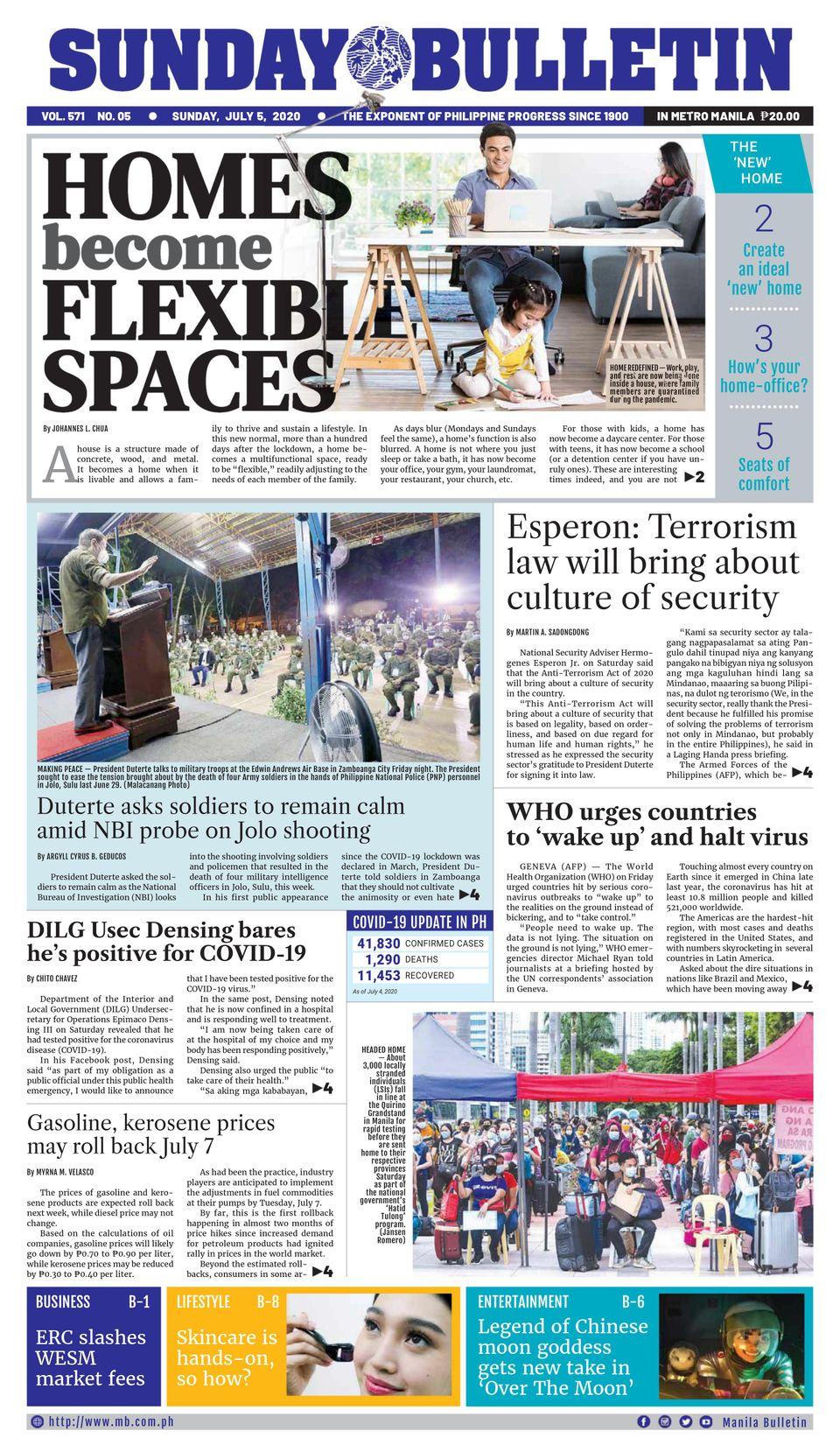 Manila Bulletin-July 5, 2020 Newspaper - Get Your Digital