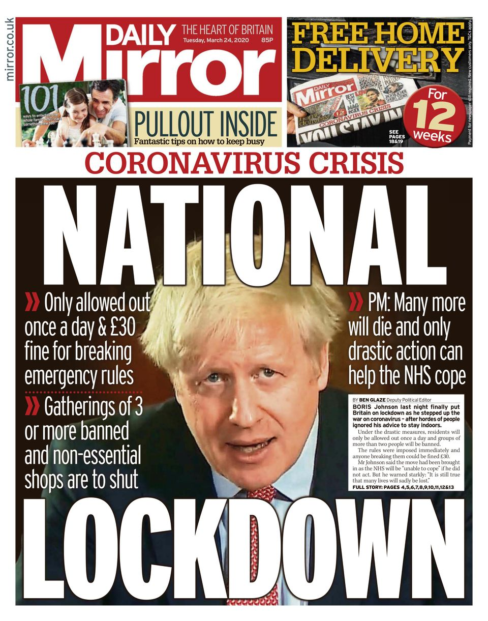 Newspapers - The Daily Mirror - Media Studies