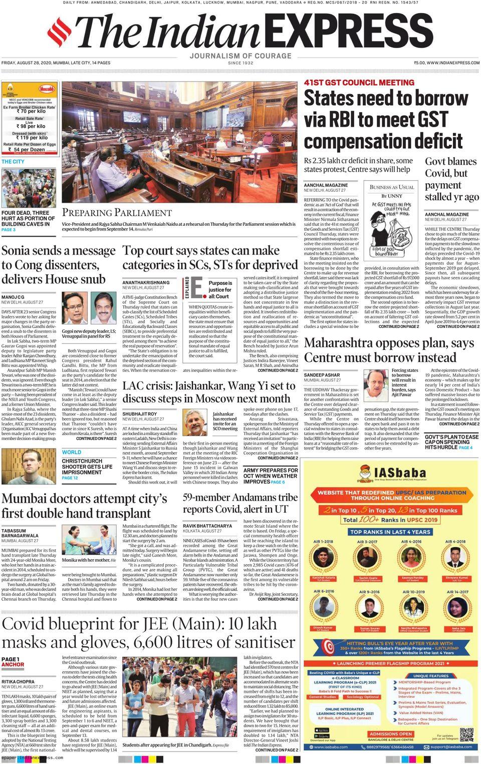 The Indian Express Delhi-April 28, 2020 Newspaper