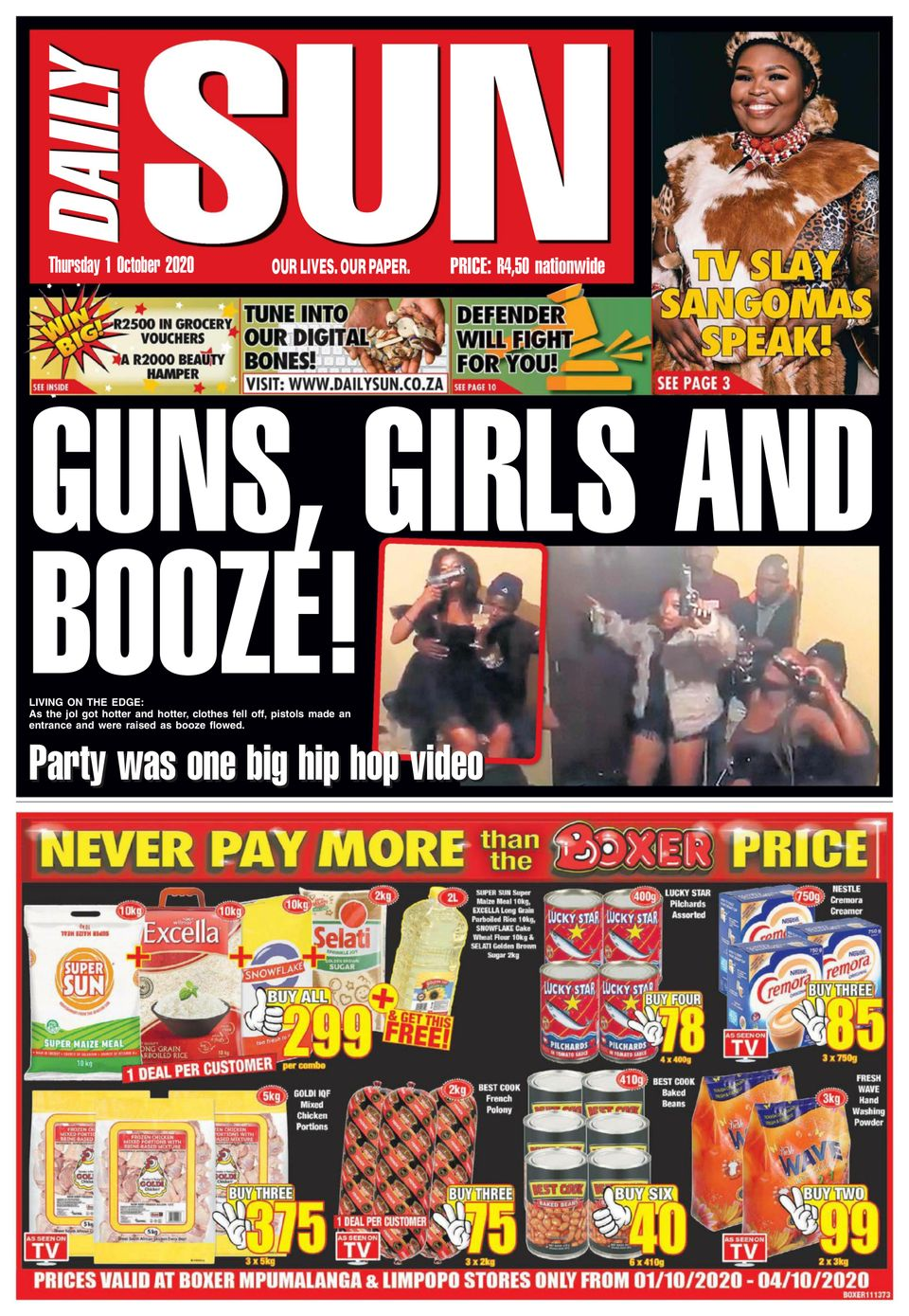 Daily Sun-August 20, 2020 Newspaper - Get your Digital