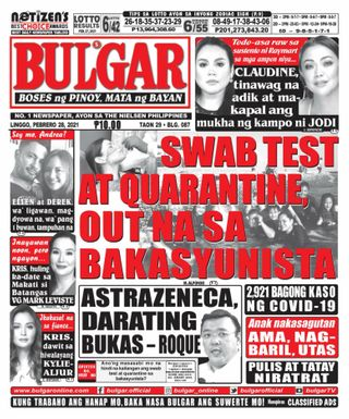 Get Your Digital Copy Of Bulgar Newspaper Tabloid February 28 2021 Issue